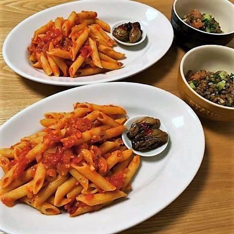 ペンネとレンズ豆 (2)