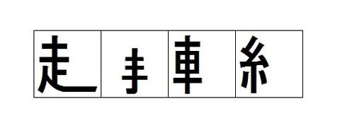 漢字の部首だけを残した四字熟語29