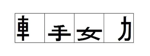 漢字の部首だけを残した四字熟語6