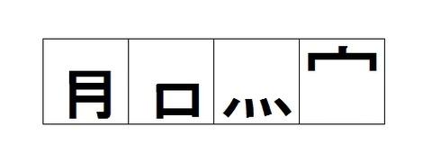 漢字の部首だけを残した四字熟語44