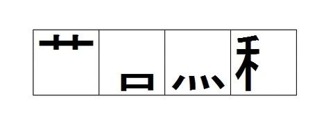 漢字の部首だけを残した四字熟語42