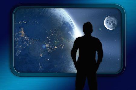 イーロン・マスクロケットで宇宙空間を移動