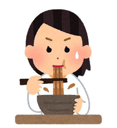 syokuji_curry_udon_woman