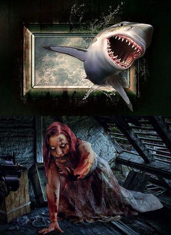 ゾンビvsサメ