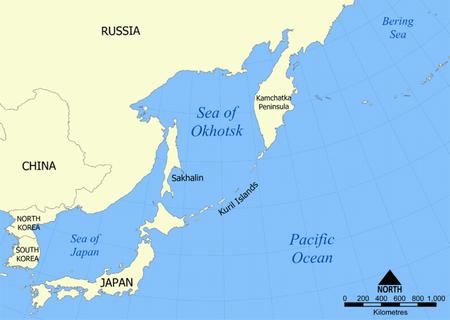 カムチャツカ半島の位置