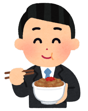 syokuji_gyudon_businessman