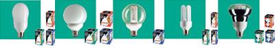 形も色も選べる蛍光ランプ