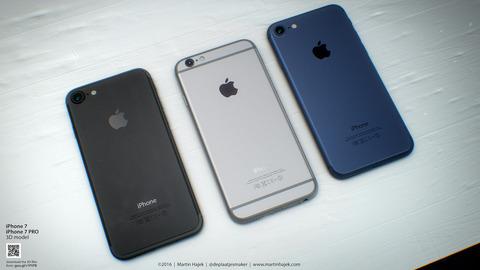 「iPhone7」ブラック&ネイビーモデルのコンセプトが登場