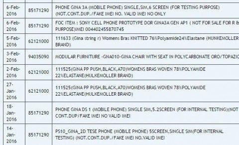 「Xperia Z6」シリーズ?輸出入サイトにソニー製新3機種が見つかる