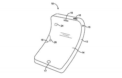 米アップル、折り曲がっても文句を言われない「iPhone」の特許を取得