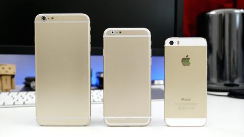 「iPhone6」4.7・5.5インチモデルのモックが登場 ―5sとの比較動画