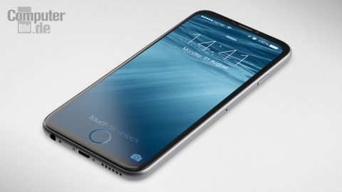 「iPhone7」のコンセプト画像が登場、画面にホームボタン埋め込む斬新さ
