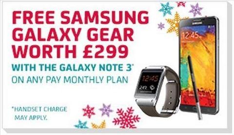 GalaxyNote3のオマケにGalaxyGear、英国でバラ撒き状態に