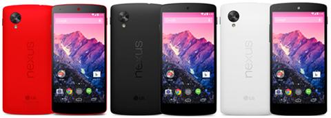 イーモバイル、「Nexus 5」32GBモデルを2月14日発売へ —新色「レッド」は3月中旬取扱い