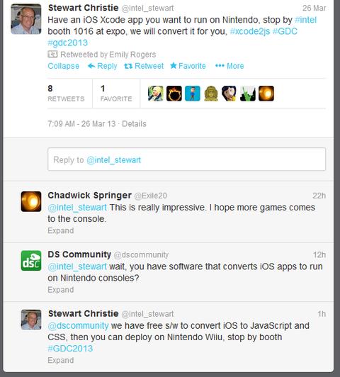 インテル「iOS アプリが任天堂のゲーム機で動かせるぞ!急げ!」