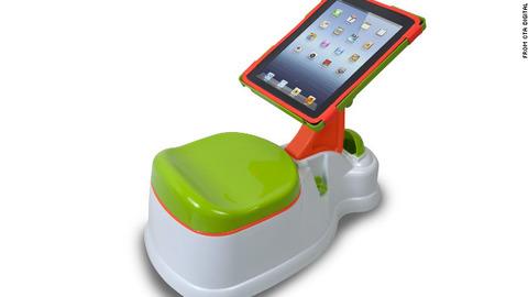 """iPadスタンド付き""""おまる"""" 「iPotty(アイポッティ)」…トイレトレーニングに"""