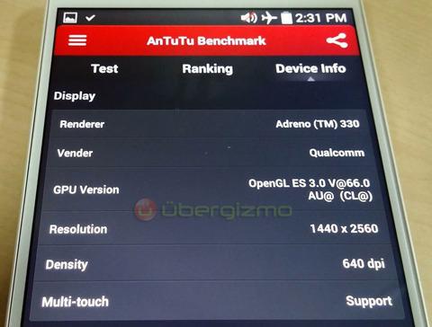 「LG G3」の実機画像がリーク —2K・スナドラ801など