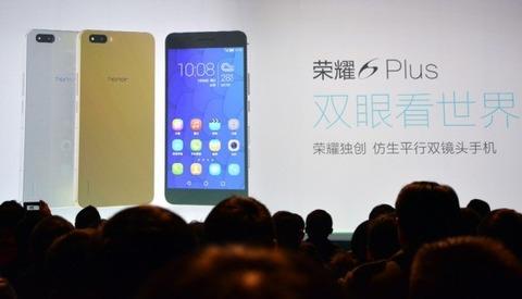 中国ファーウェイ、5.5インチ「Honor 6 Plus」を発表 -デュアルカメラ搭載スマホ