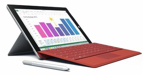 米マイクロソフト、10.8インチの「Surface 3」を発表 -10.8インチ・Atom搭載、価格499ドル〜で5月5日発売