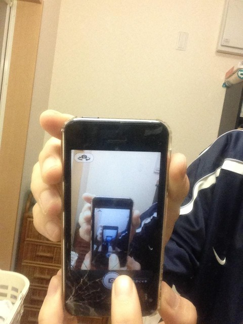 iphone5の画面割れちゃった☆(ゝω・)v