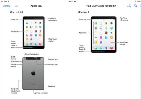 米アップル、未発表の新型「iPad Air2」「iPad mini3」をミス公開 —Touch ID搭載確定