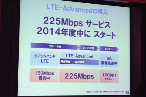 ドコモLTE、2014年度中に225Mbpsに —キャリアアグリゲーション