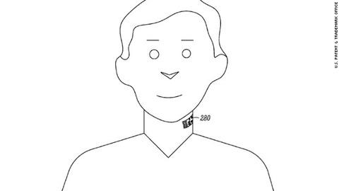 モトローラが皮膚に貼付ける「電子タトゥー」の特許を出願、「グーグルグラス」に応用か
