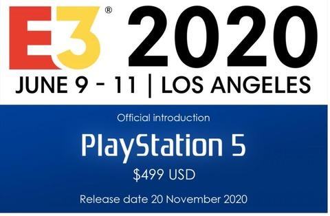 PS5の発売日と小売り希望価格がリーク!E3 2020で詳細発表か