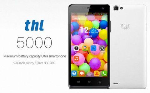 最強スマホ「THL 5000」が299ドルで登場 ―5インチ・8.9mm厚・5000mAh電池・13Mカメラ搭載など