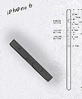 「iPhone6」はiPod touch並みの薄さに —約6mm厚で側面カーブ筐体