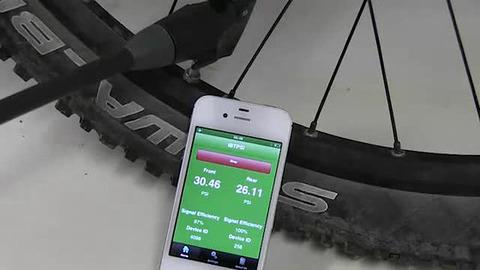 自転車のタイヤの空気圧がiPhone ...