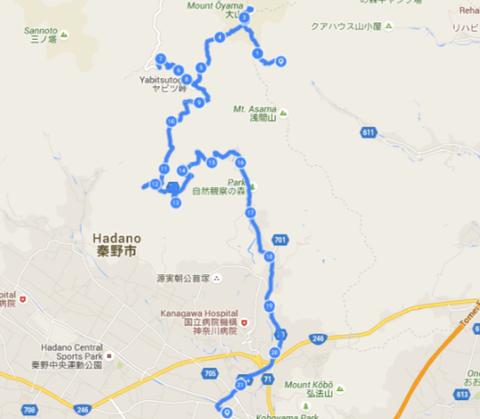 ヤビツ峠地図