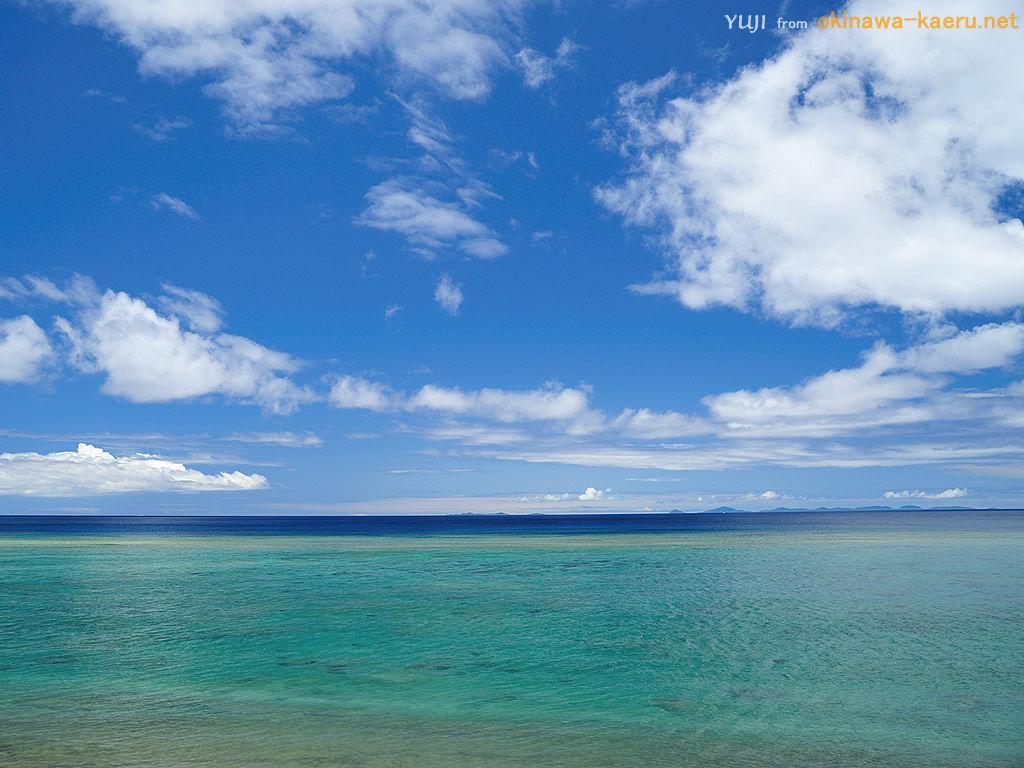 国頭村の海のpcデスクトップ壁紙 Yuji From Okinawa Kaeru Net