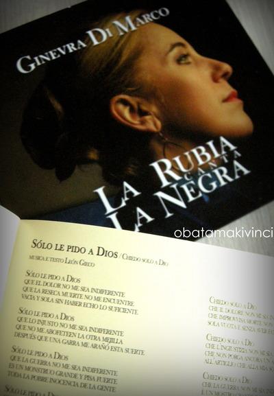 CD La Rubia Canta La Negra sòlo le piedo a dios