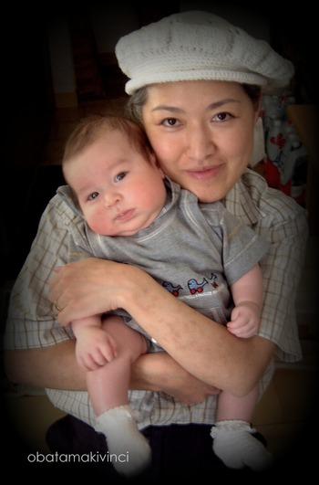 mamma e figlio nell' ex appartamento