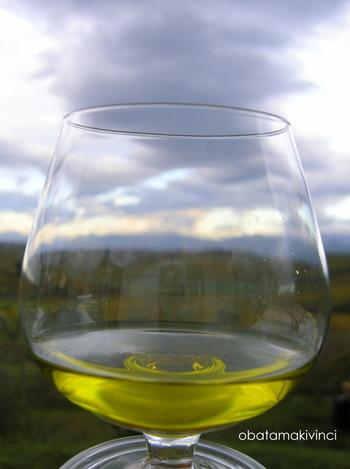 Olio di Oliva Extravergine 2017 Filtrato con vista panoramica