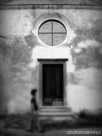 la facciata di chiesa di streda