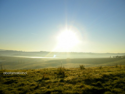 Sole di Mattina e Foschia sulla Terra