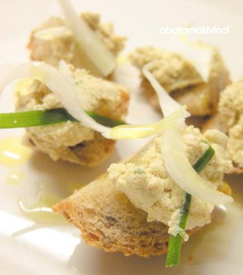 Crostini con il pesto al Tofu modo Vegano