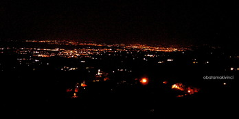 Vista Notturna dal Montalbano
