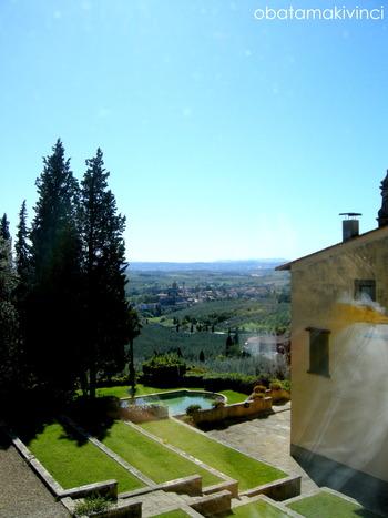dalla finestra di Villa Ferrale vista Vinci