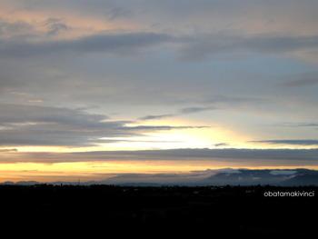 Tramonto Nuvola Pesante