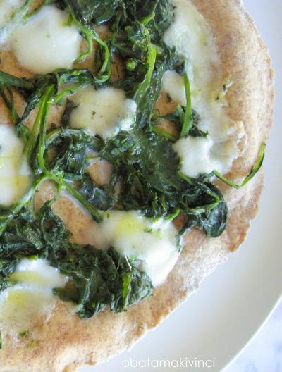 Pizza Bianca Cima di Rape e mozzarella