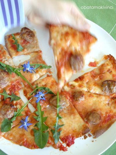 Pizza Margherita con Salsciccia