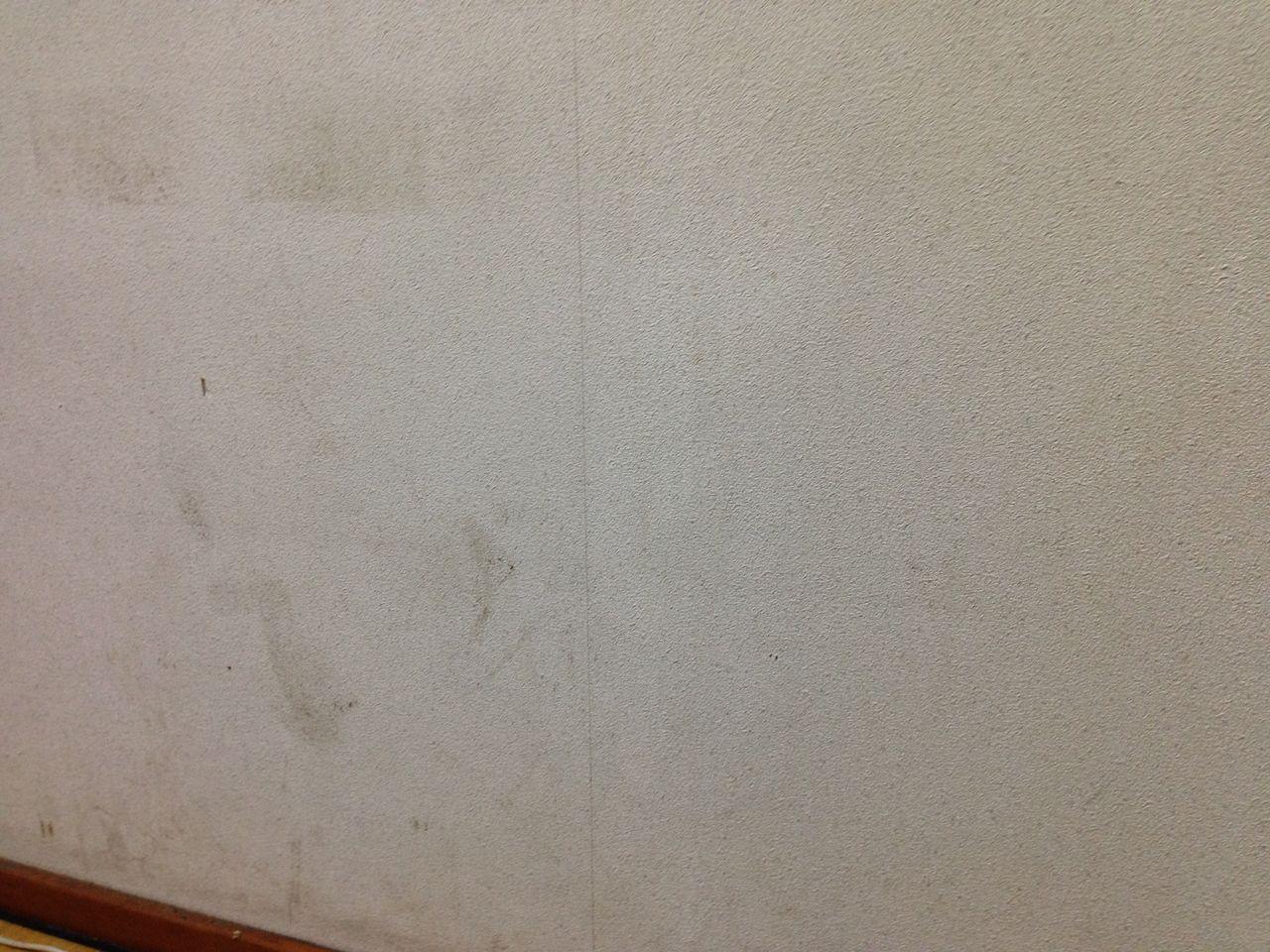 壁紙を磨いてみたよ 汚部屋の匠