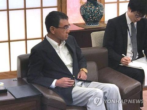 【韓国の反応】河野外相、韓国大使の言葉を遮って「極めて無礼」「韓国は戦後の国際秩序を根本から覆している」「とにかく国際法違反の状態を是正せよ」→韓国炎上