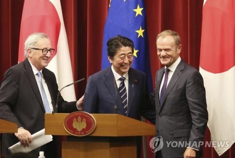 【韓国の反応】日本とEU、経済連携協定に署名「巨大自由貿易圏誕生」…安倍首相「保護主義と戦い、日本とEUが自由貿易をリードする」