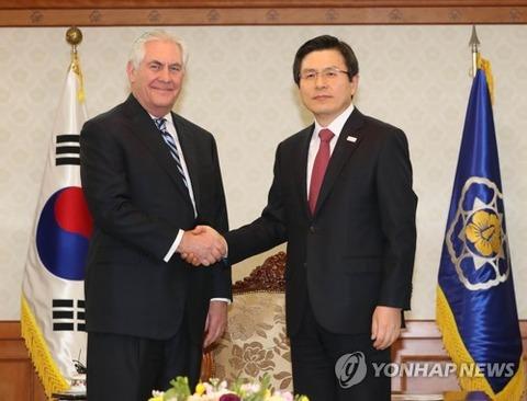 【韓国の反応】韓国メディア「米国は日本の味方?…ティラーソン、訪韓の際に韓日関係の改善を要求していた」「ユンビョンセ『日本がもっと柔軟な姿勢を』」