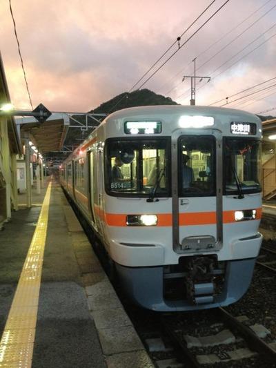 中津川行き帰りの電車