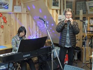 北斎遊学館月一ライブ いづみさん&JOY 2019.2.16(土